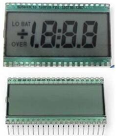 40P TN Positive 3-1/2 Digits Segment LCD No Backlight