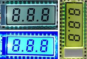 24P TN Positive 3-Digits Segment LCD Panel Backlight