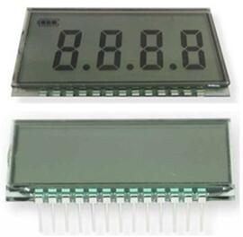 13P TN Positive 4-Digits Segment LCD No Backlight
