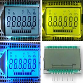 21P Positive 6-Digits Segment LCD Panel Backlight
