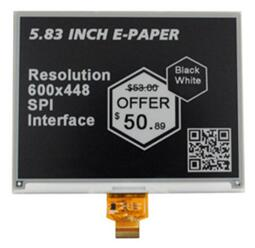 5.83 inch 24P SPI Black White E-INK E-Paper Panel