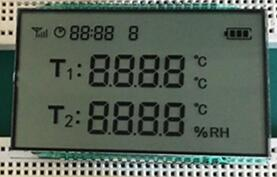 36P TN 2 Road 4-Digits Segment LCD No Backlight