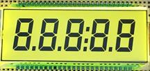 50P TN Positive 5-Digits Segment Yellow Green LCD Panel