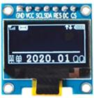 0.96 inch 7P SPI White/Blue OLED SSD1315 SSD1306 128*64